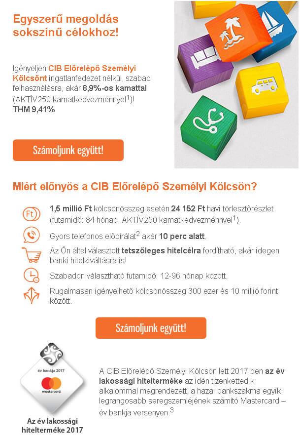 CIB hitelajánlatokkal