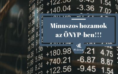 Mínuszos hozamok – Önkéntes Nyugdíjpénztárak